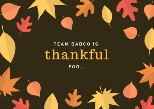 A Babco Thanksgiving